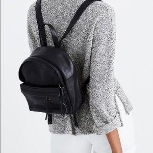 Black Madewell mini lorimer leather backpack